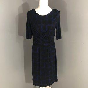 Hugo Boss Jersey Print Dress Large